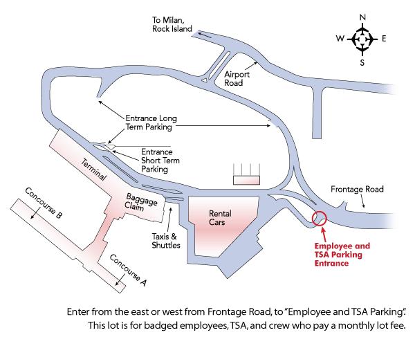 crew parking map