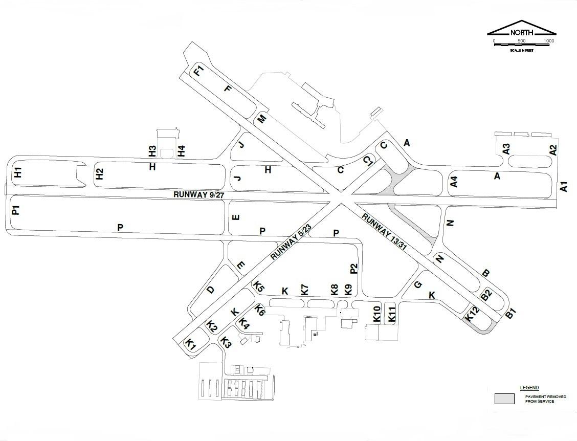 MLI Runway Map