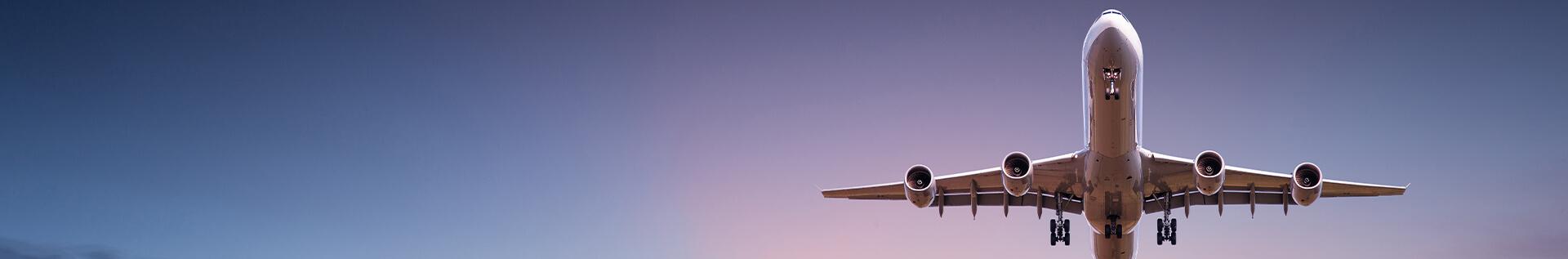 underbelly of plane in flight