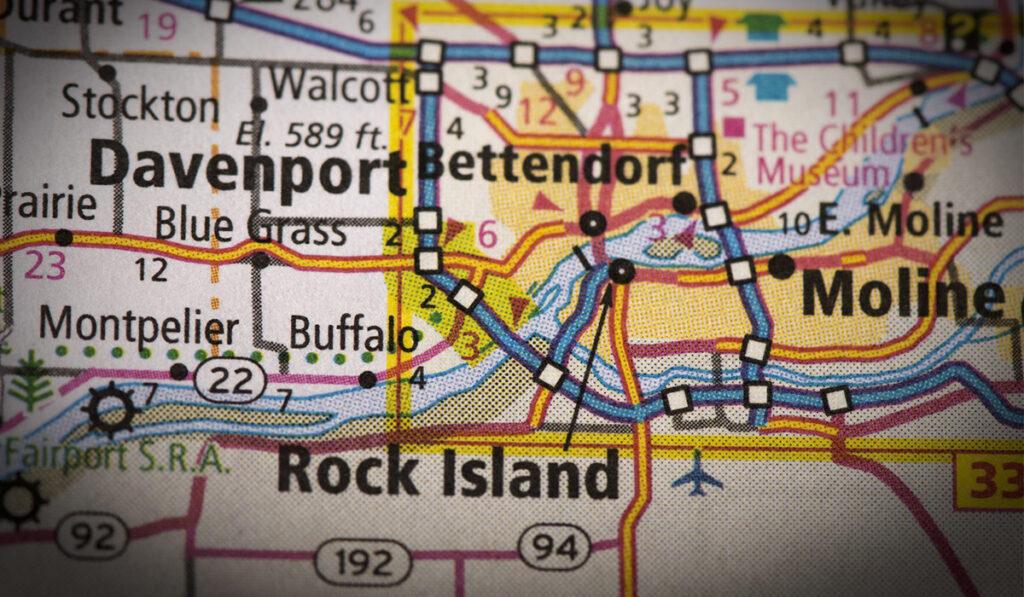 Quad Cities area road map
