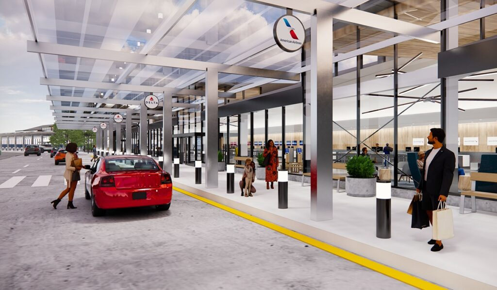 Rendering Front of Airport