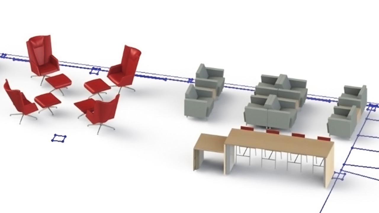 New terminal seating mockup